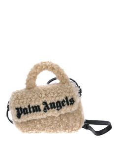 Teddy beige logo print shoulder bag