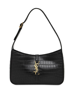 Monogram Embossed Leather Shoulder Bag