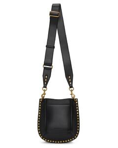 Black leather mini Joan crossbody bag