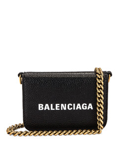 Mini Cash Wallet on Chain Bag in Black