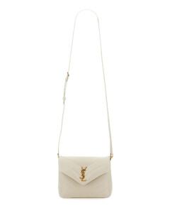 Chain Lid Pocket leather cross-body bag