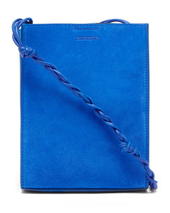Tangle small braided-strap suede shoulder bag