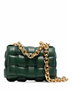 The chain cassette leather shoulder bag