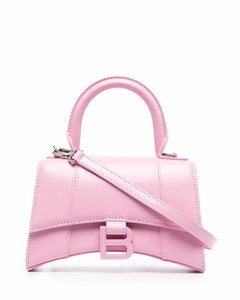 Hourglass xs leather handbag