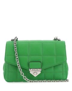 WOMEN'S 6130881HB0G9006 WHITE LEATHER SHOULDER BAG