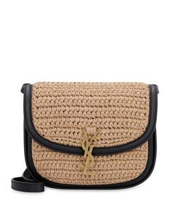 Kaia Raffia And Leather Crossbody Bag