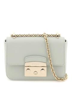 Shoulder bag with logo charm