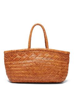 Triple Jump woven-leather basket bag