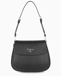 Black Cleo bag with flap