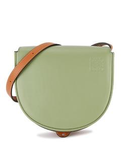 Duo Heel two-tone leather cross-body bag
