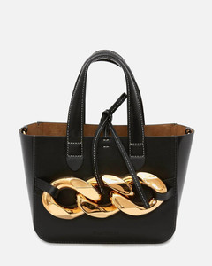 Women's Mini Chain Tote Bag - Black