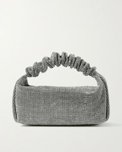 Small Crystal-embellished Mesh Tote