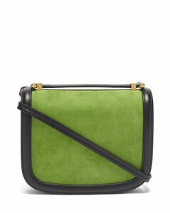Suede and leather cross-body bag