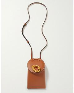 Lid Pocket Leather Shoulder Bag