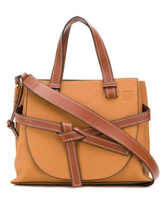 Ladies Soft Grained Calfskin Small Gate Top Handle Bag