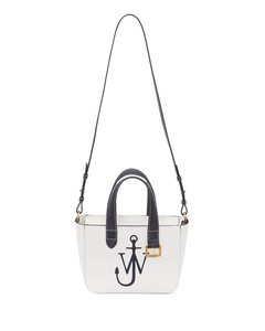 Women's Mini Belt Tote Bag - Navy/White