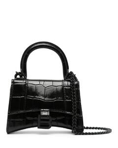 Hourglass leather handbag
