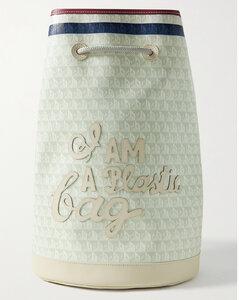 Medium TB Bag in Black Monogrammed Lamb Leather