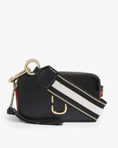 Snapshot leather cross-body bag