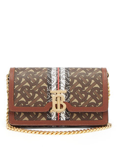 Carrie coated-canvas & leather cross-body bag