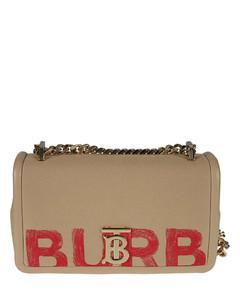 Logo Print Chain Strap Shoulder Bag