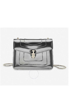 Serpenti Forever Silver Crossbody Bag