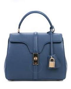 Blue 16 Bag In Grained Calfskin