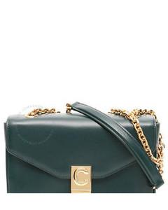 Open Box - Celine Dark Green Medium C Shoulder Bag 187253BFB.31AN