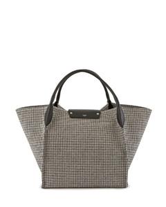 Ladies Medium Big Bag In Tweed And Smooth Calfskin