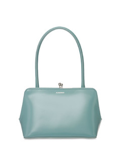 Goji Frame Mini Leather Top Handle Bag