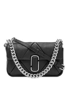 Shine MatelasséFlat Shoulder Bag