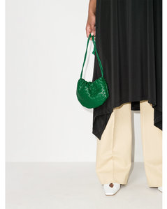 Green Mini Bulb Leather Pouch Bag