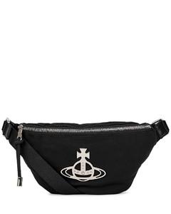 Hilary black nylon belt bag
