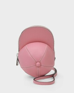 Nano Cap Bag in Pink Grained Leather