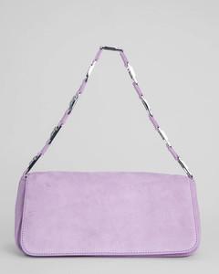 Women's Daisy Suede Shoulder Bag - Mauve