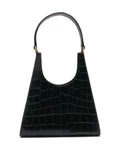 Rey crocodile-embossed leather shoulder bag