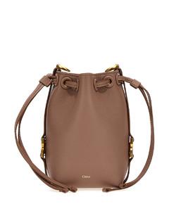 Skull crocodile-effect leather mini bag