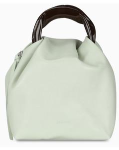 White Crush Handle small handbag