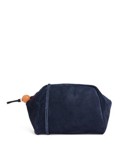 Large Suede Puffy Pouch
