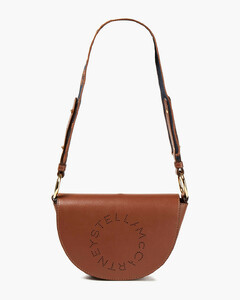 Woman Perforated Faux Leather Shoulder Bag