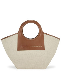 Cala small ivory canvas tote