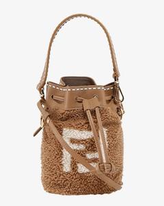 Sheepskin bucket bag