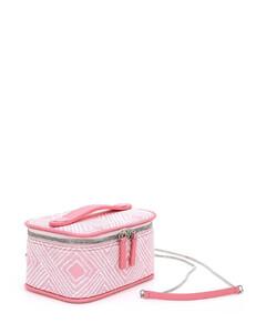 Orange Pizzo Leather Purse Shoulder Bag