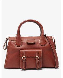 Edith medium topstitched leather shoulder bag