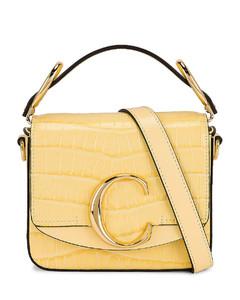 Chloe Mini C Bag in Yellow
