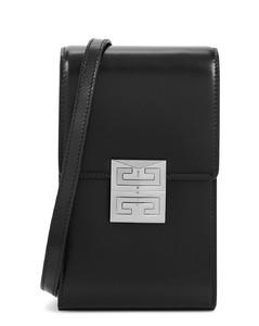 4G mini black leather cross-body bag