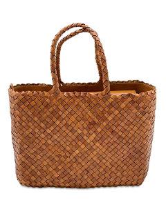 Big Lunch Basket Leather Shoulder Bag