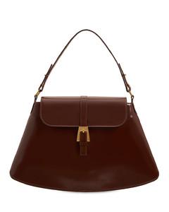 Portia Semi Patent Leather Shoulder Bag