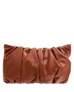 Large Bean Nappa Leather Shoulder Bag