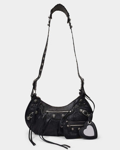 Le Cagole Bag S in Black Leather
